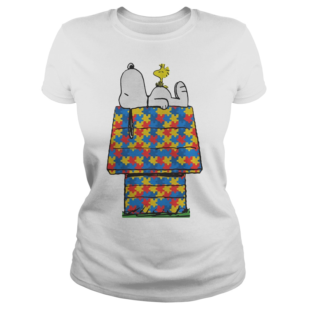 Autism The Peanuts Snoopy Dream Ladies Tee