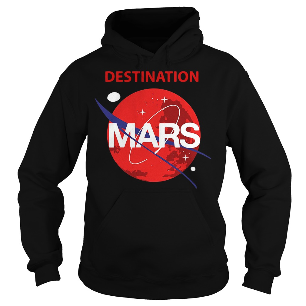 Destination Mars Nasa Buzz Space Travel Planetary Hoodie
