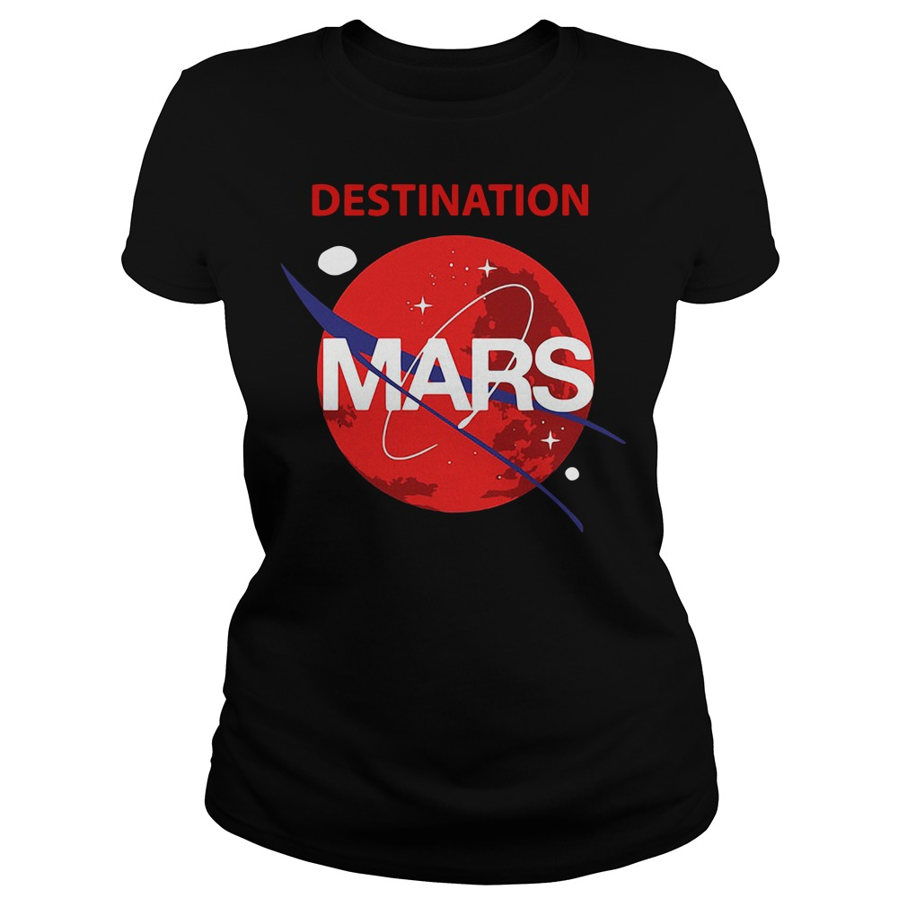 Destination Mars Nasa Buzz Space Travel Planetary Ladies Tee