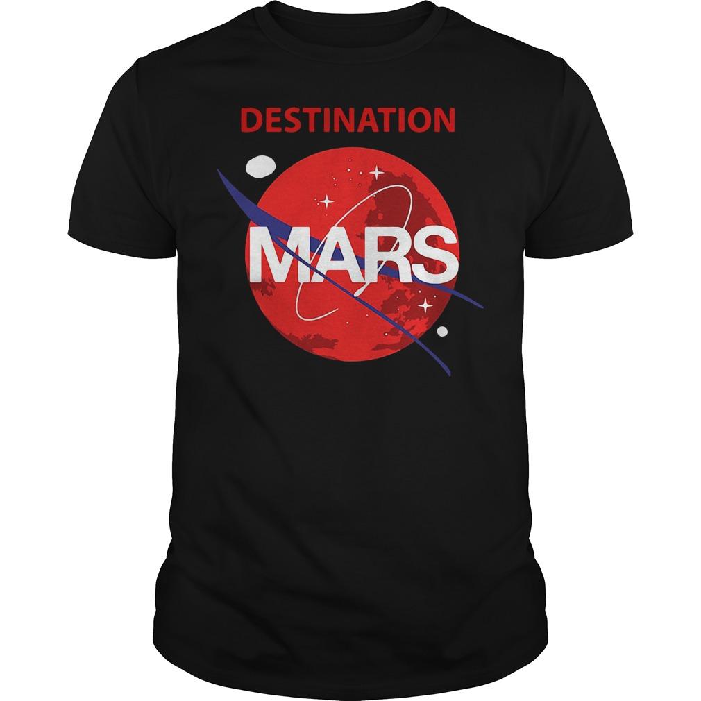 Destination Mars Nasa Buzz Space Travel Planetary Shirt