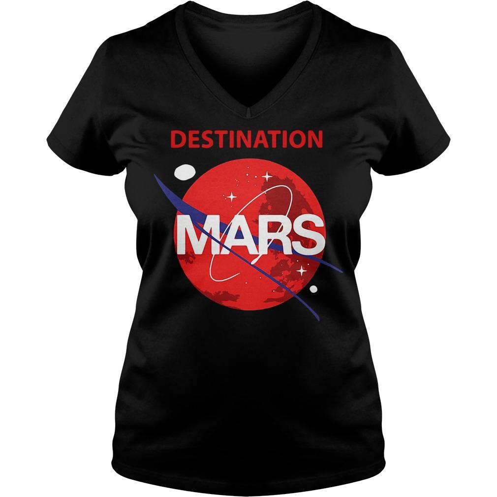 Destination Mars Nasa Buzz Space Travel Planetary V-neck T-shirt