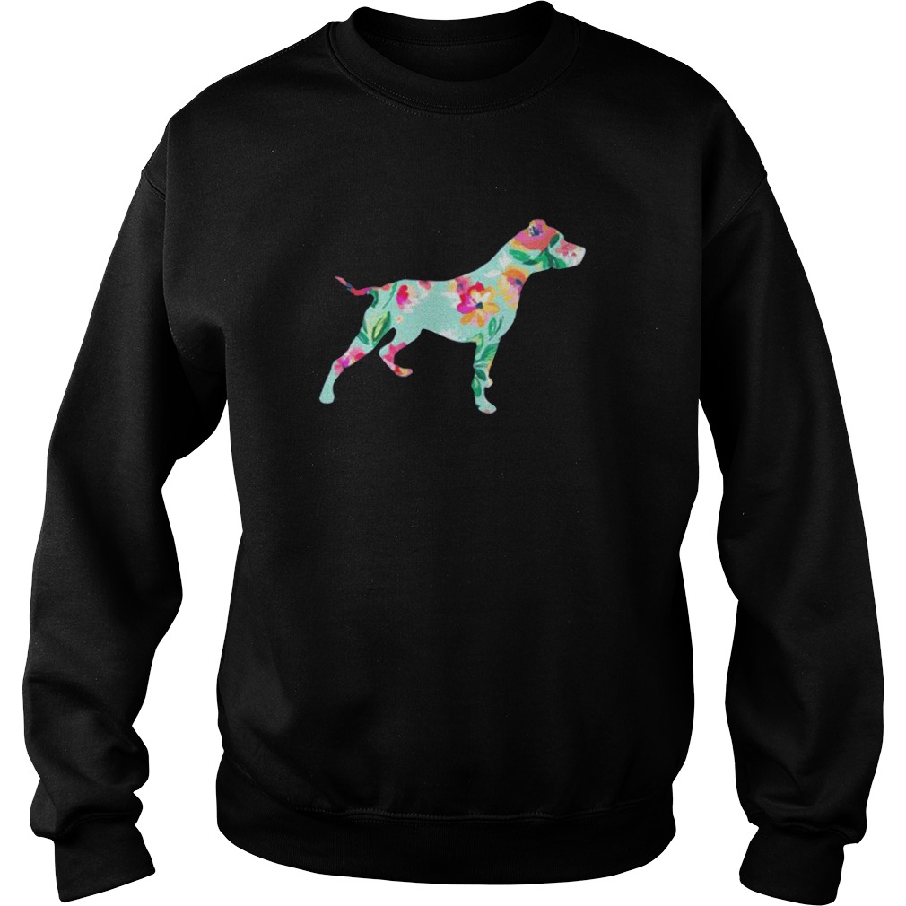 Donation Dog Floral Pitbull Sweater