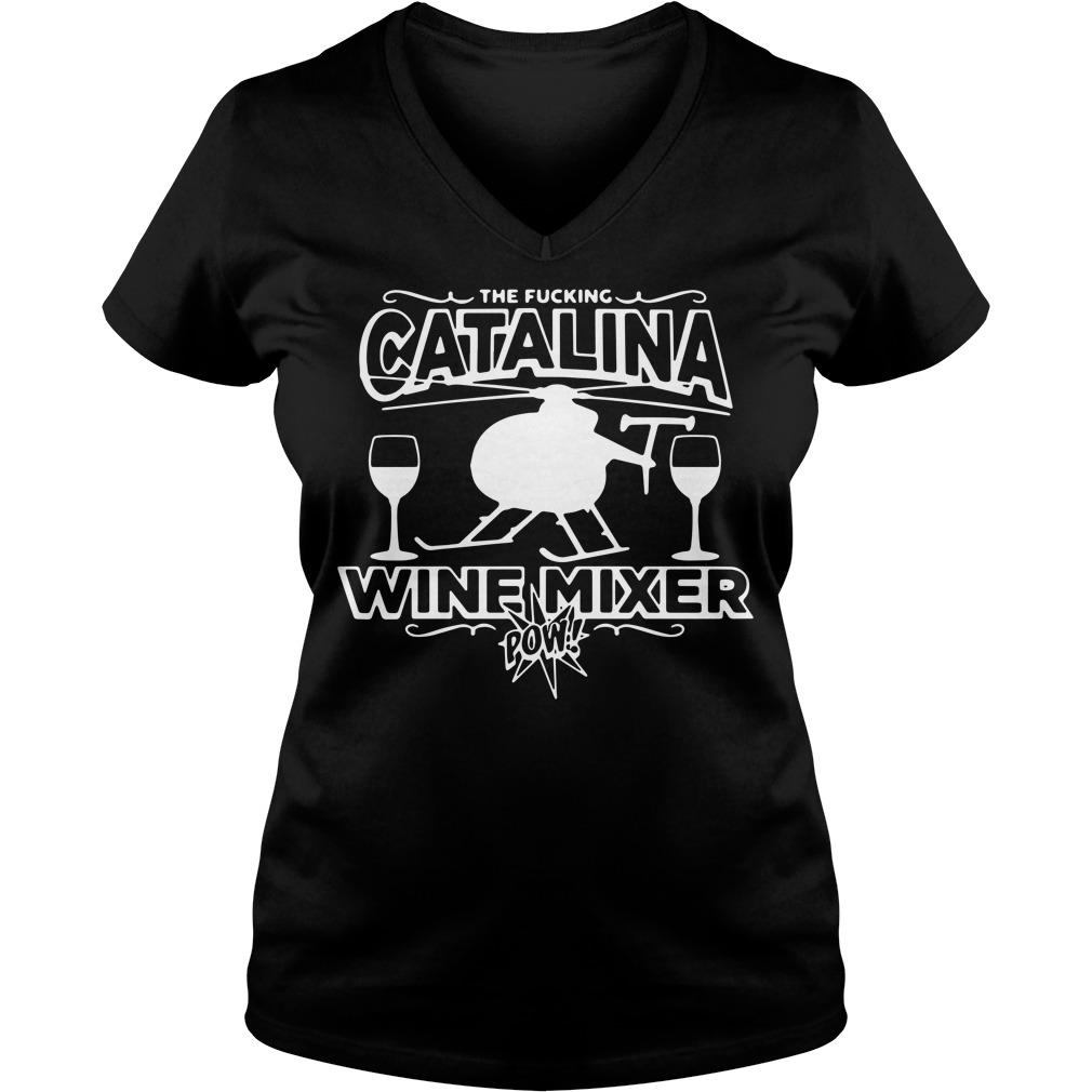 The Fucking Catalina Wine Mixer Pow V-neck T-shirt