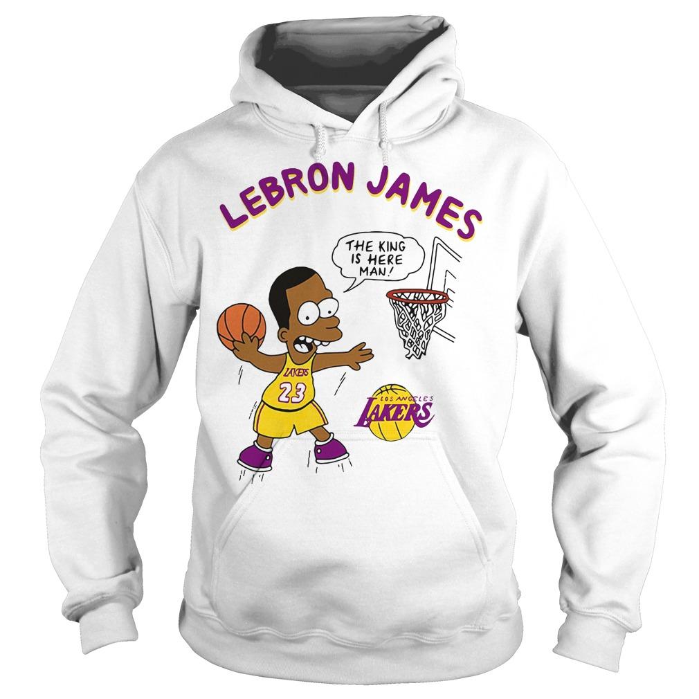 Lebron James The King Is Here Man Los Angeles Lakers Hoodie