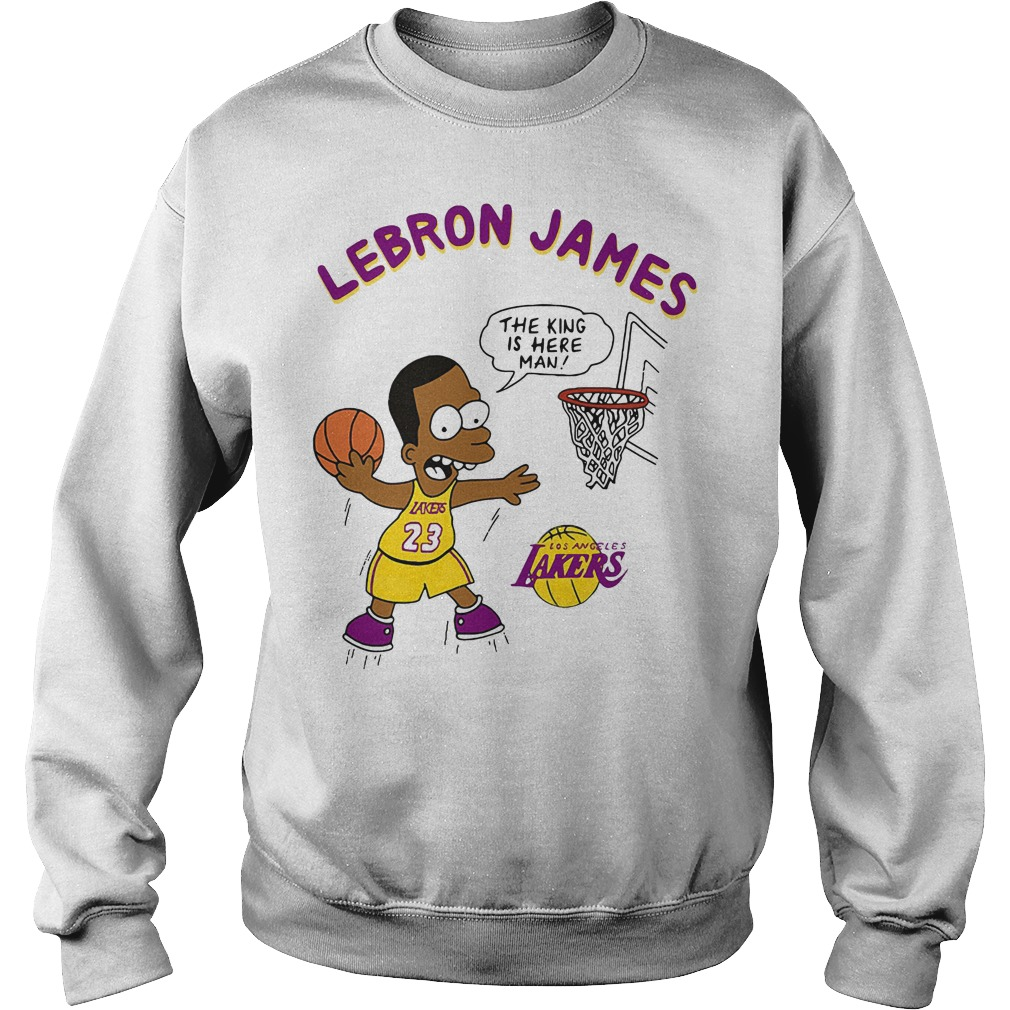 3cb651be377 Lebron James the king is here man Los Angeles Lakers shirt