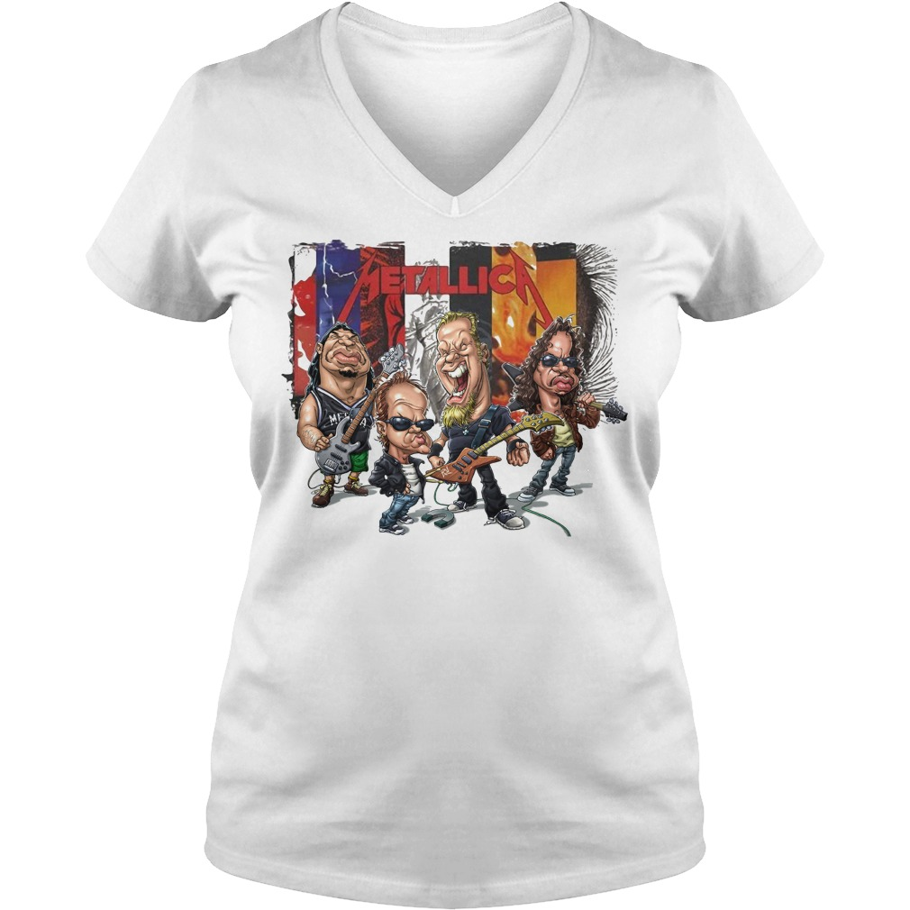 Metallica Chibi V-neck T-shirt