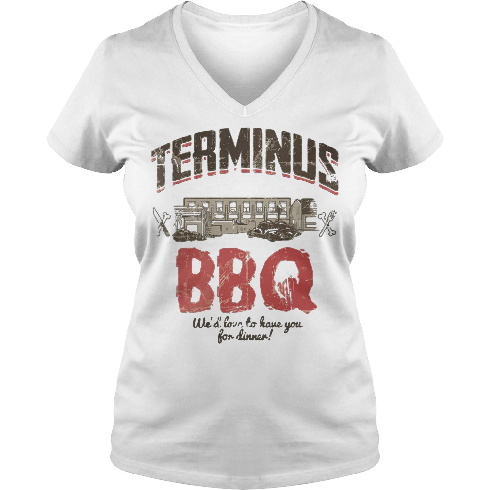Terminus Bbq We'd Love To Have You For Dinner V-neck T-shirt