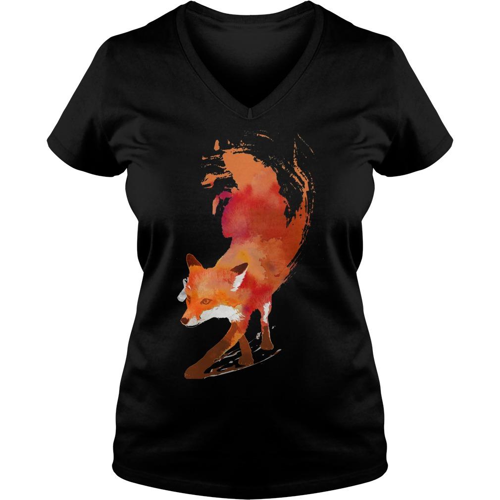 Vulpes Vulpes V-neck T-shirt