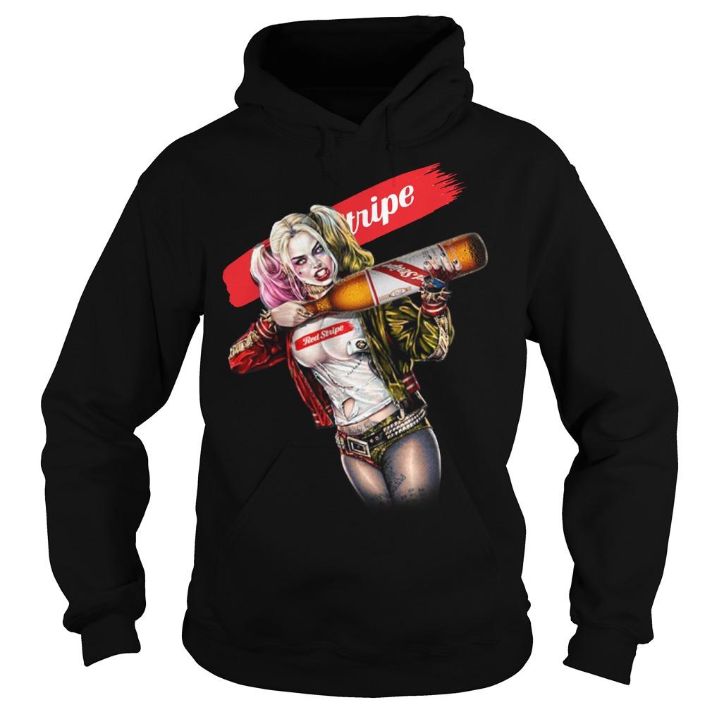 Harley Quinn Red Stripe Hoodie