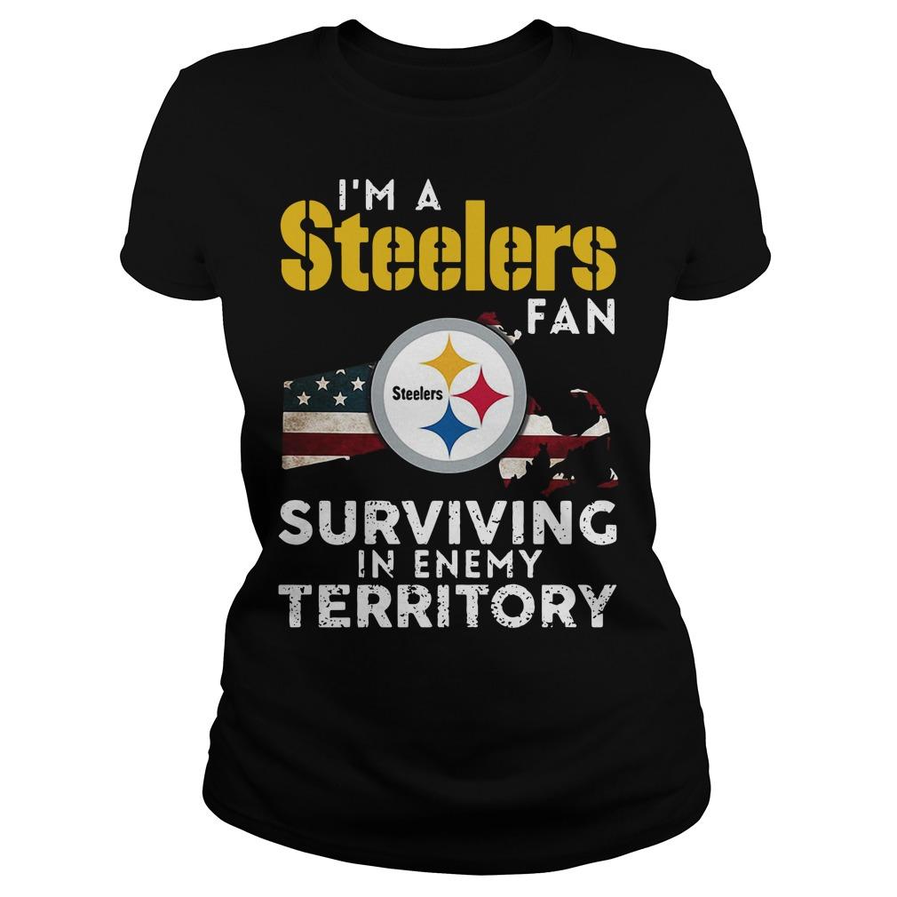 I'm A Steelers Fan Surviving In Enemy Territory Ladies Tee