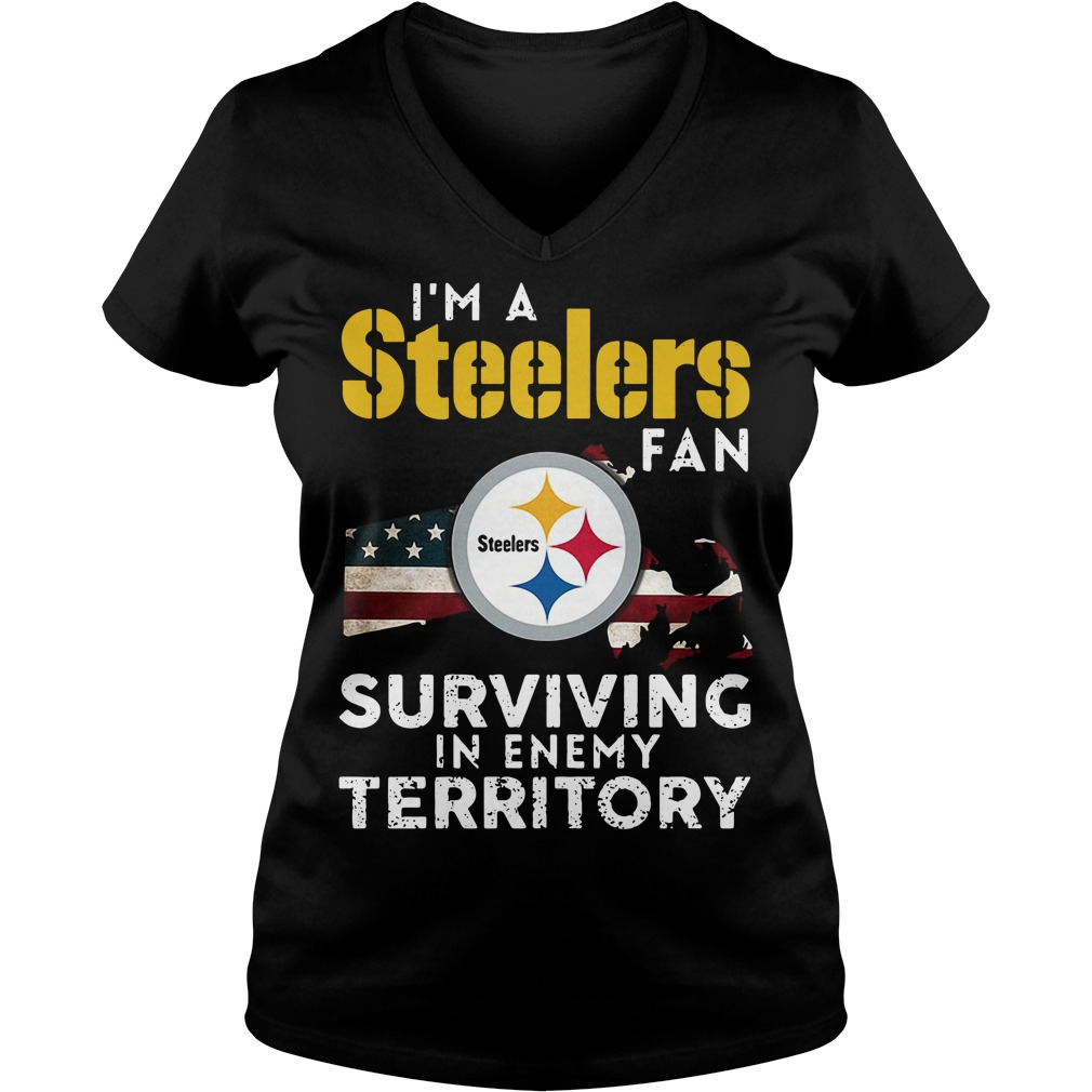 I'm A Steelers Fan Surviving In Enemy Territory V-neck T-shirt