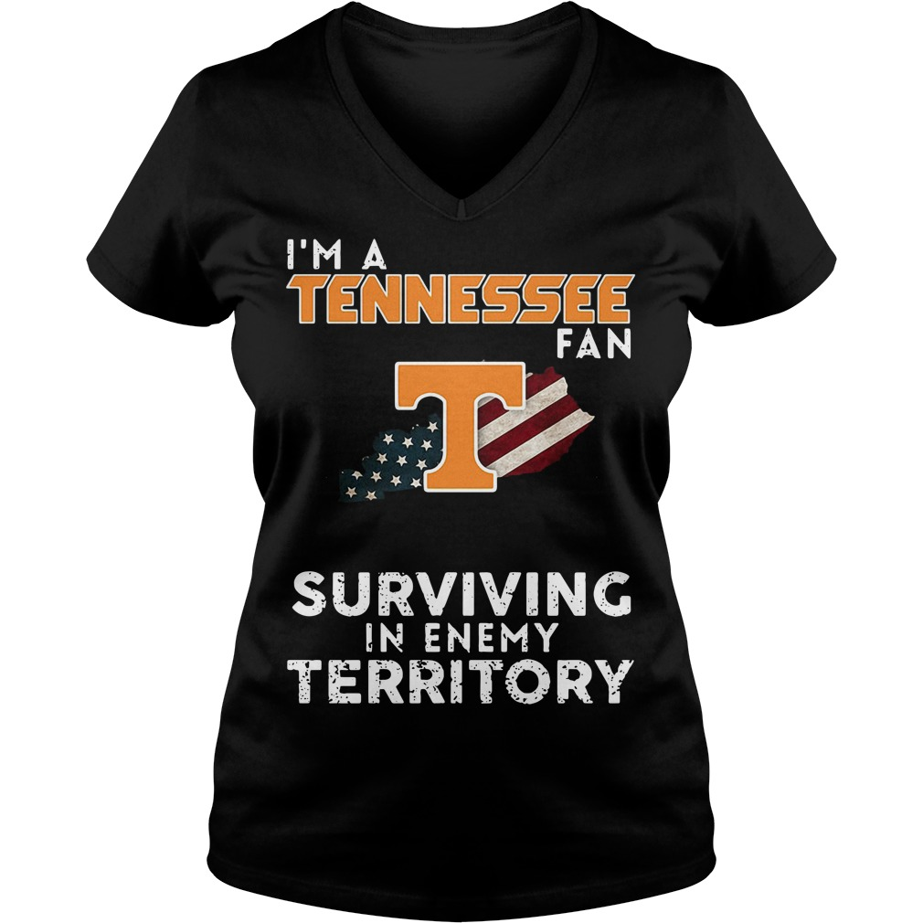 I'm A Tennessee Kentucky Fan Surviving In Enemy Territory V-neck T-shirt