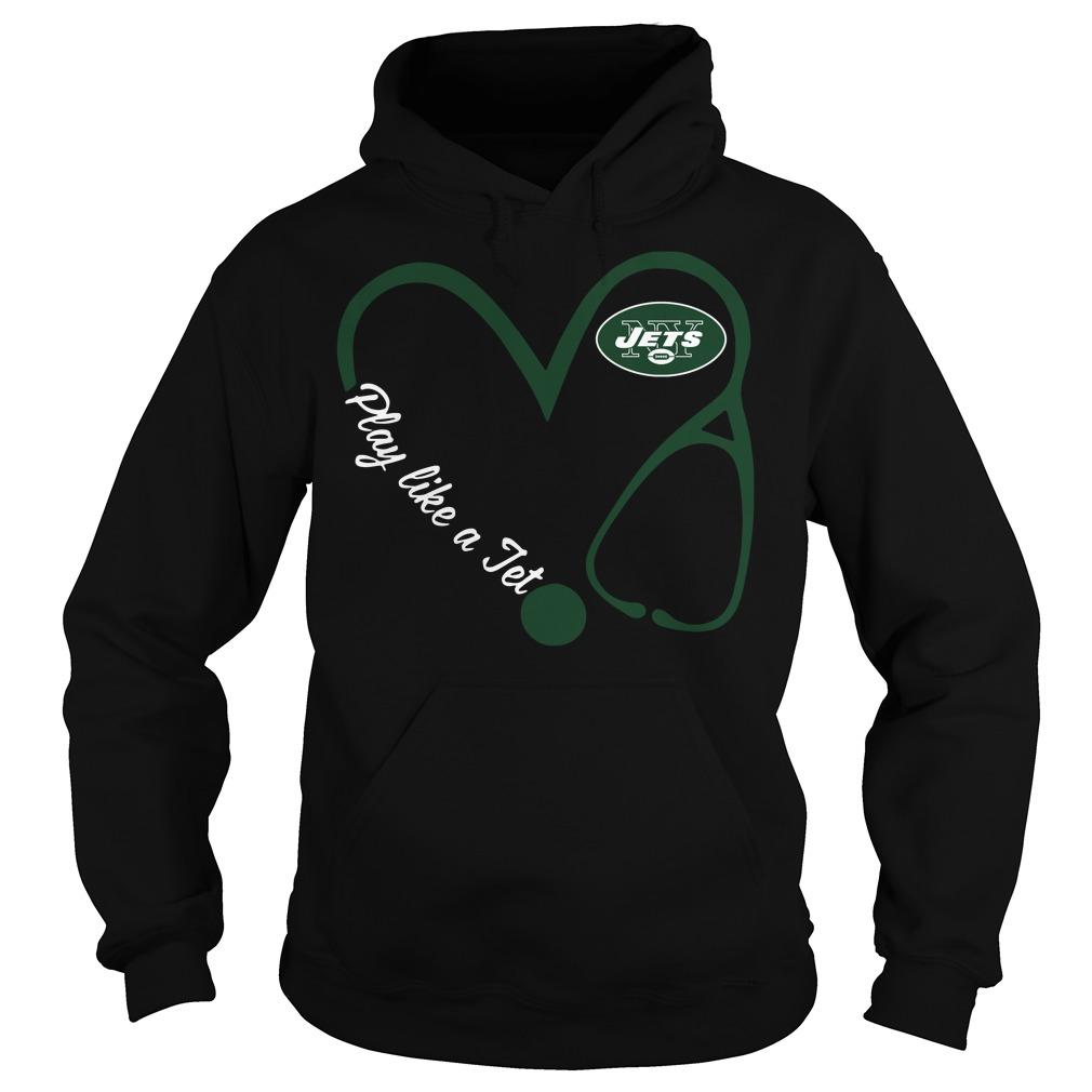 New York Jets Love Nurse Play Like A Jet Hoodie