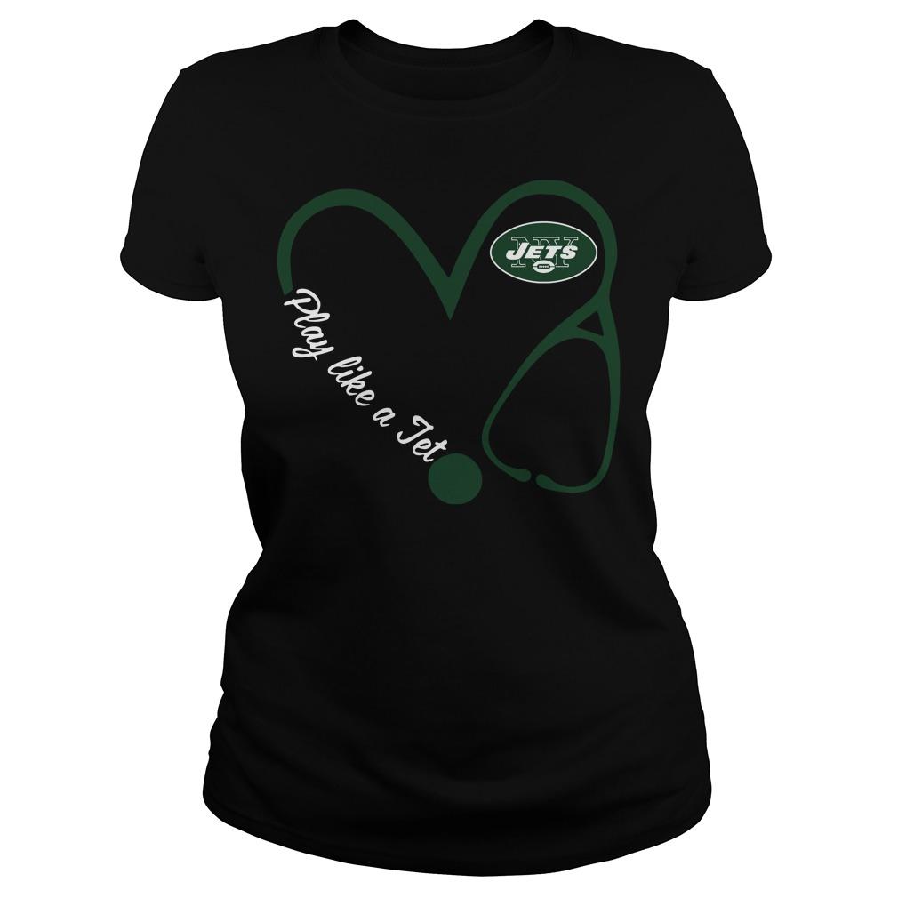 New York Jets Love Nurse Play Like A Jet Ladies Tee