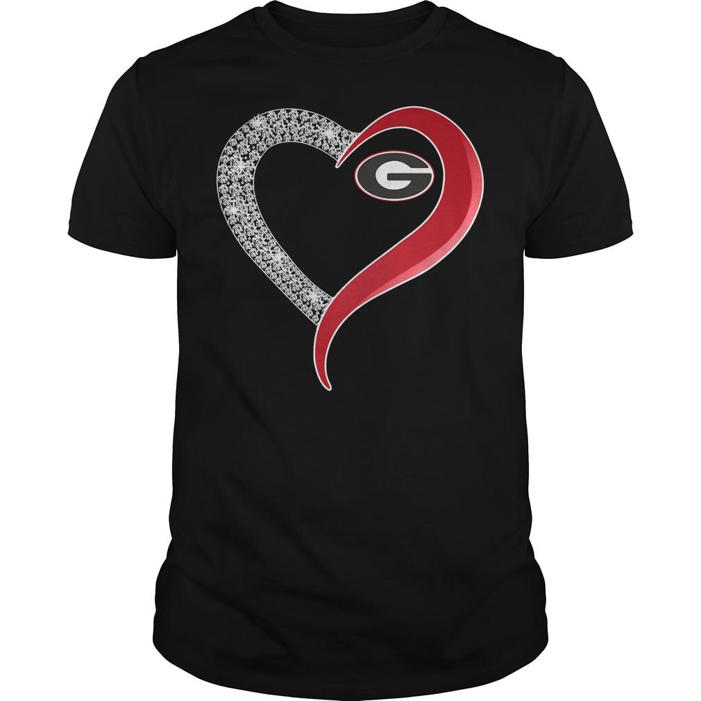 Georgia Bulldogs Diamond Love Guys Shirt