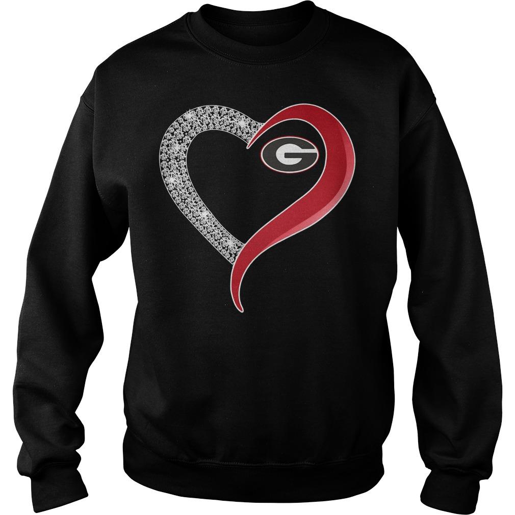 Georgia Bulldogs Diamond Love Sweater