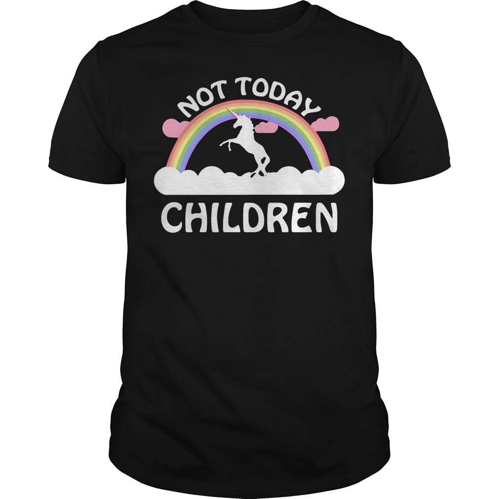 Horse Unicorn Not Today Children Guys Shirt