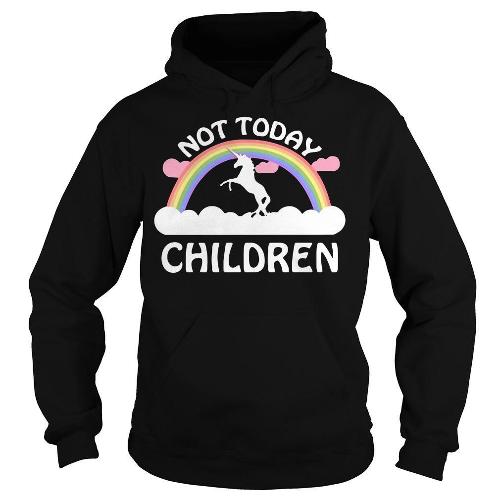 Horse Unicorn Not Today Children Hoodie