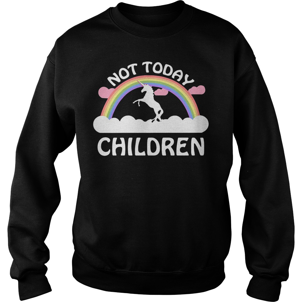 Horse Unicorn Not Today Children Sweater