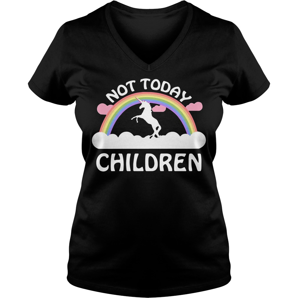 Horse Unicorn Not Today Children V-neck t-shirt