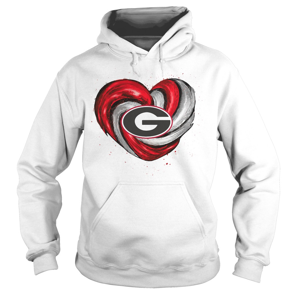 Hurricane Georgia Bulldogs Love Hoodie