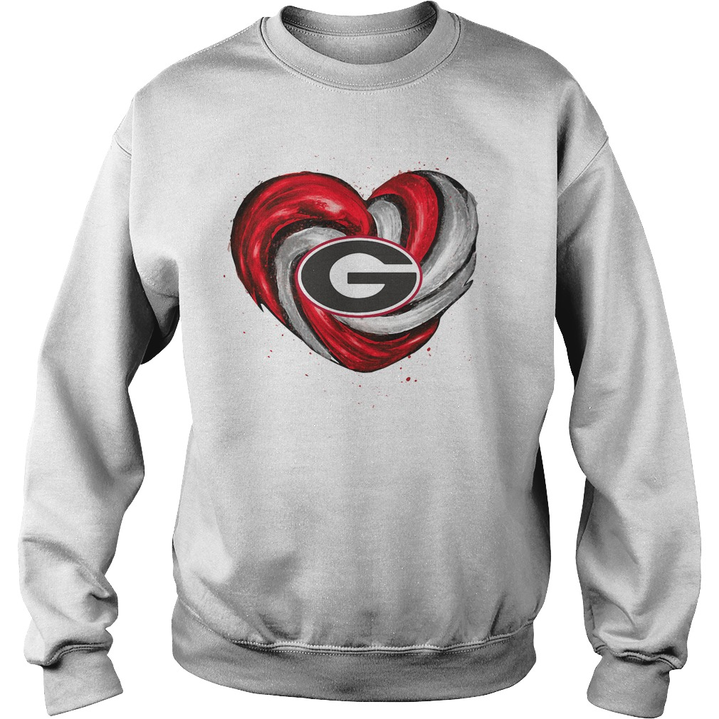Hurricane Georgia Bulldogs Love Sweater