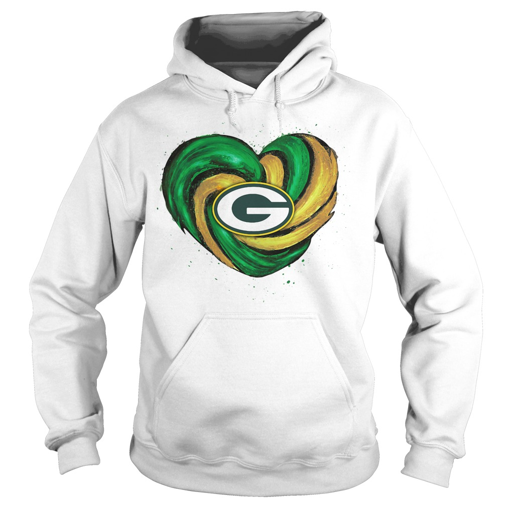 Hurricane Green Bay Packers Love Hoodie