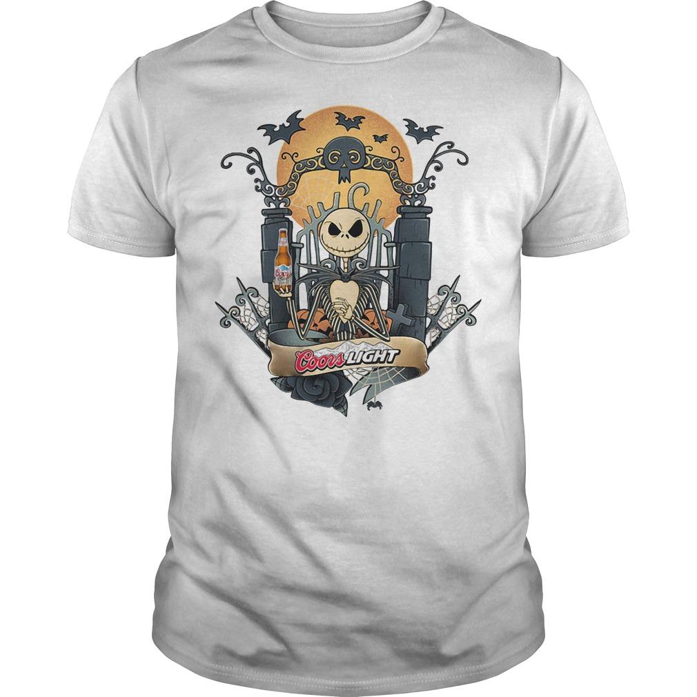 Halloween Jack Skellington Coors Light Shirt