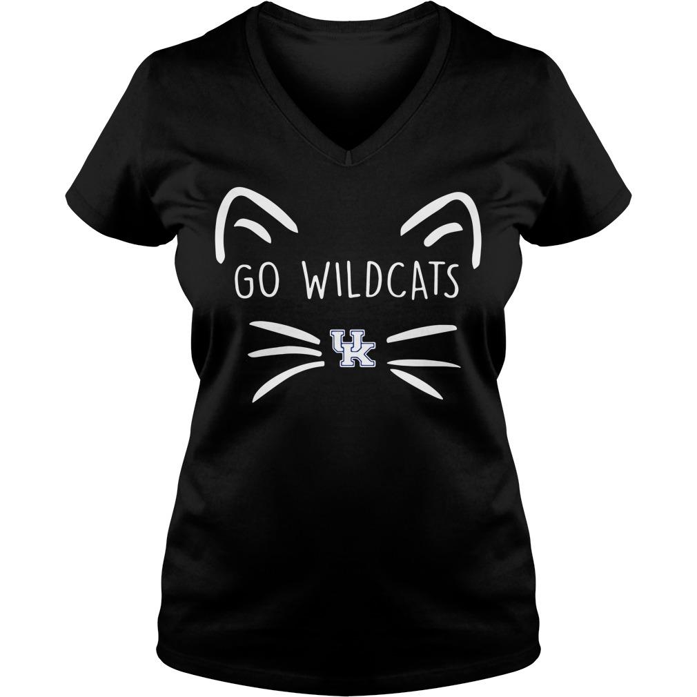 Kentucky Wildcats Cat Go Wildcats V-neck T-shirt