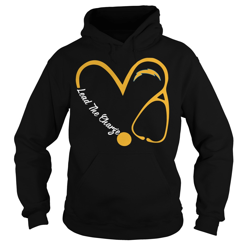 Los Angeles Chargers Love Nurse Lead The Charge Hoodie