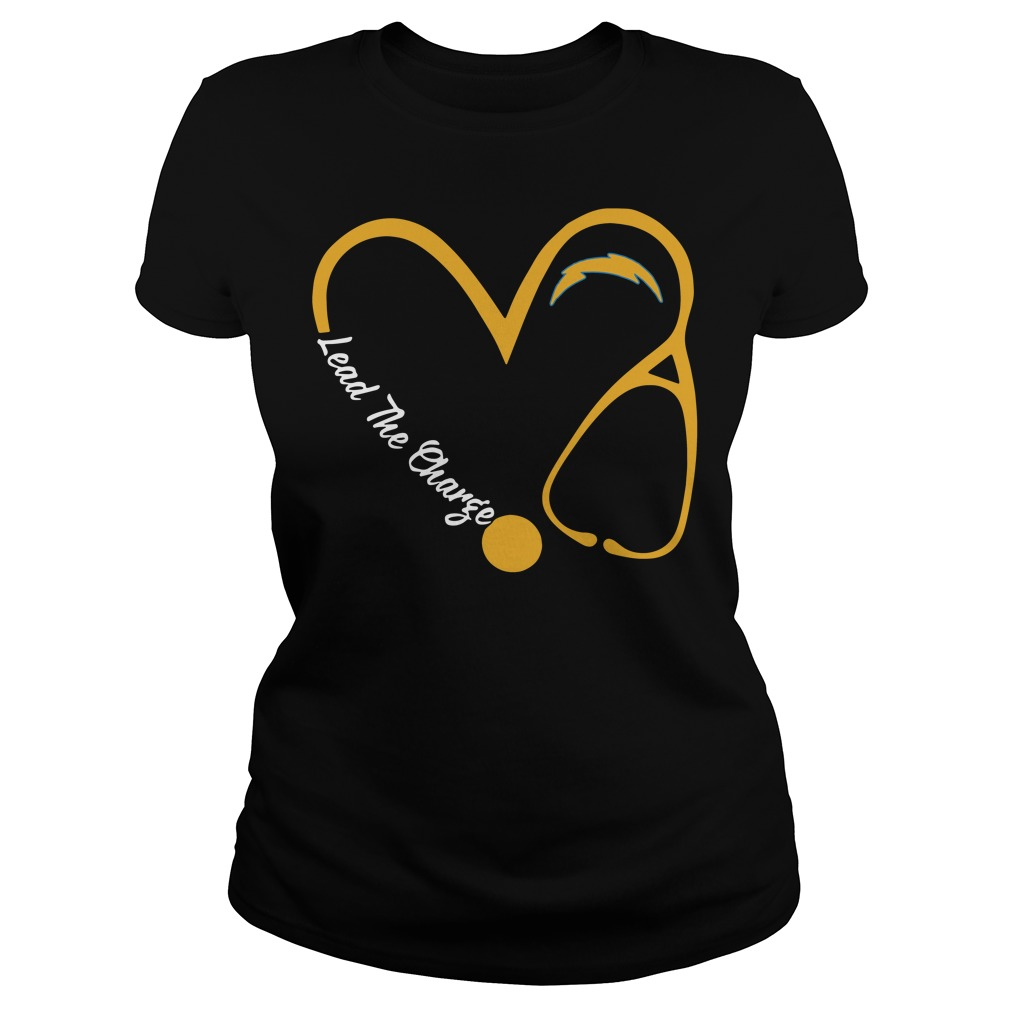 Los Angeles Chargers Love Nurse Lead The Charge Ladies Tee