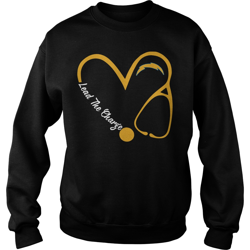 Los Angeles Chargers Love Nurse Lead The Charge Sweater
