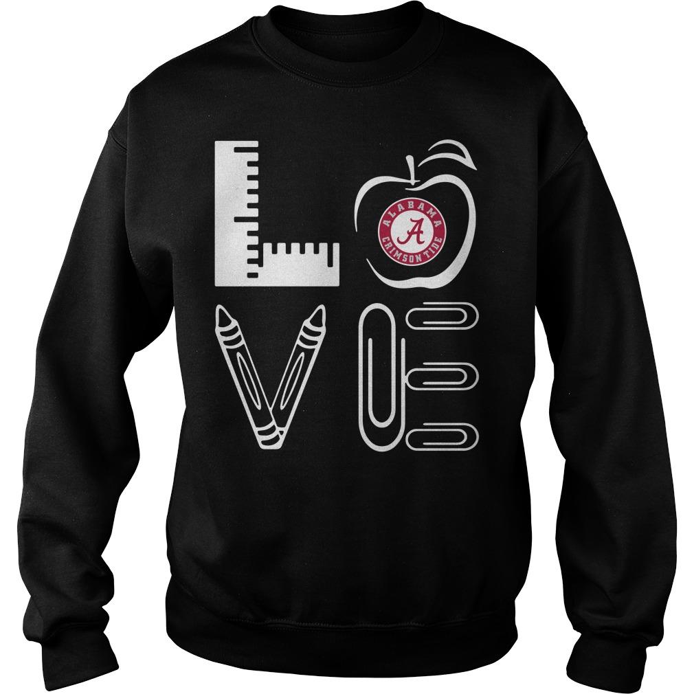 Teacher Love Alabama Crimson Tide Apple Sweater
