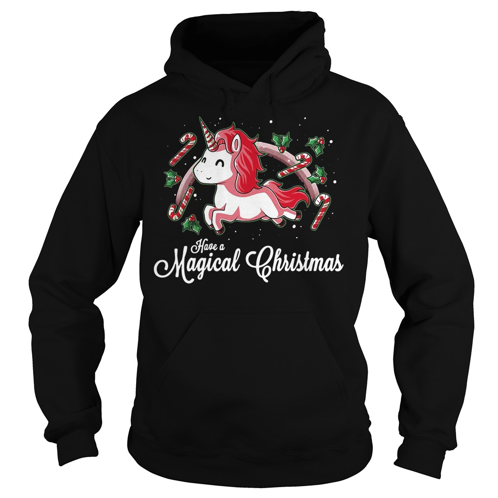 Unicorn Have A Magical Christmas Hoodie