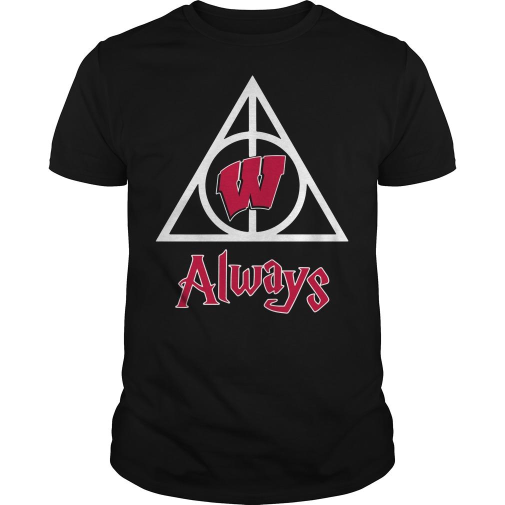 Wisconsin Badgers Deathly Hallows Always Harry Potter Shirt