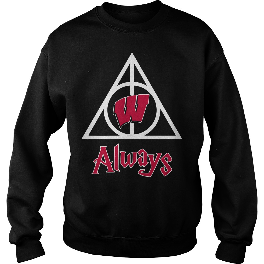 Wisconsin Badgers Deathly Hallows Always Harry Potter Sweater