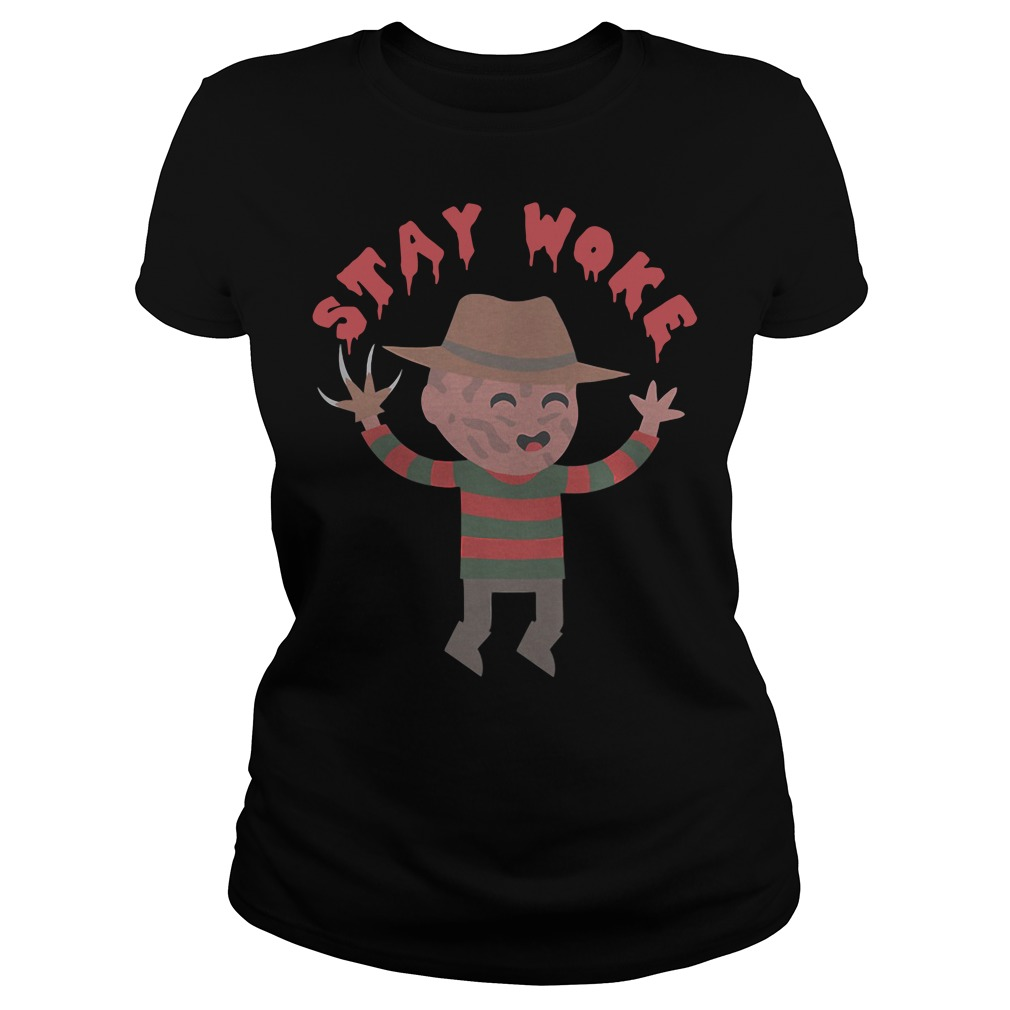 Freddy Krueger Stay Woke Ladies Tee