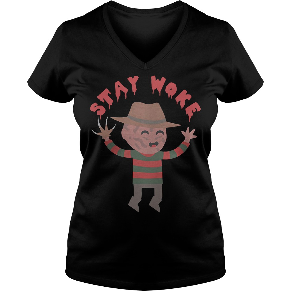 Freddy Krueger Stay Woke V-neck T-shirt