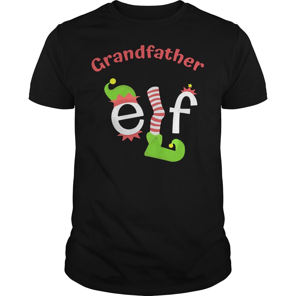 Grandfather Elf Christmas Ugly Guys Shirt