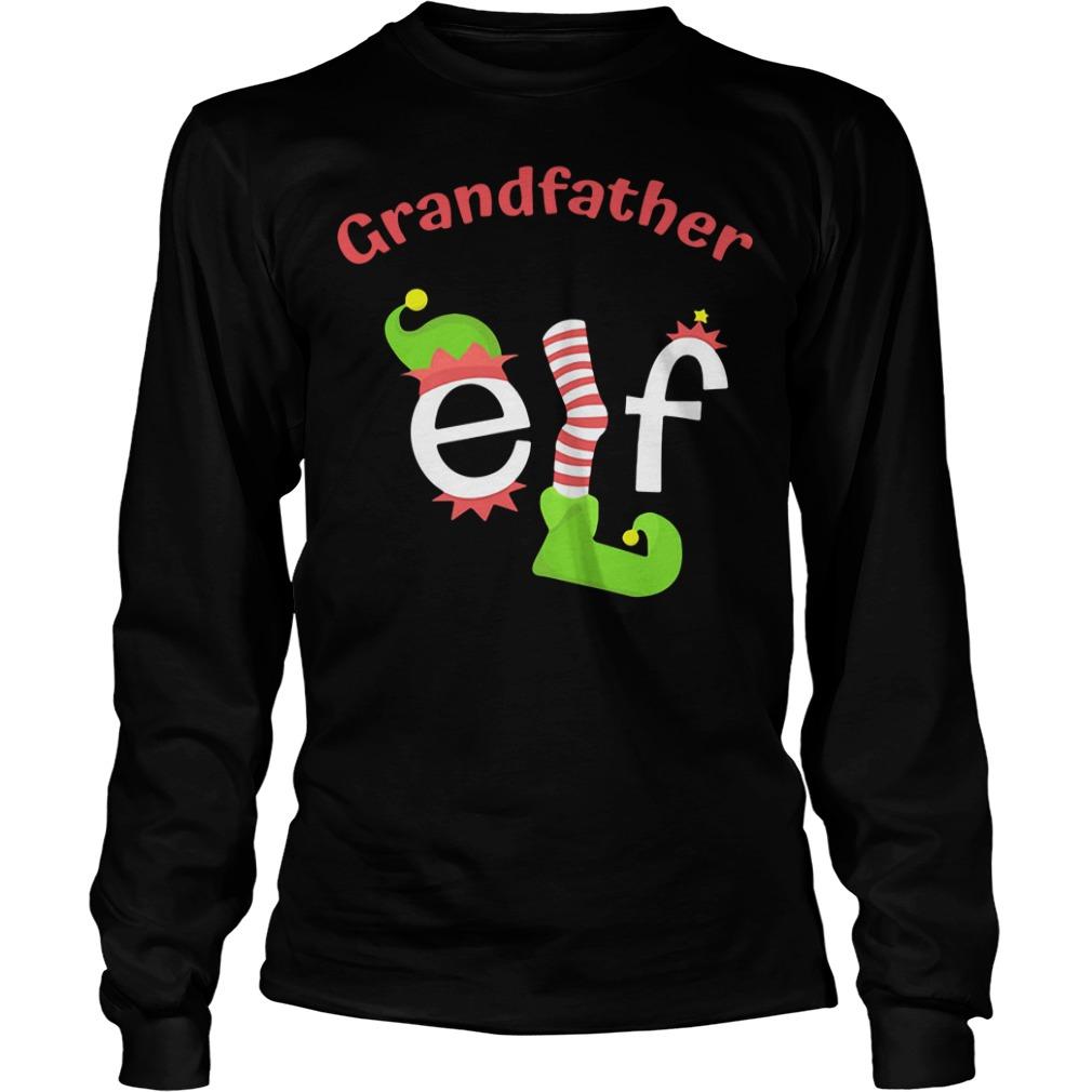 Grandfather Elf Christmas Ugly Longsleeve Tee