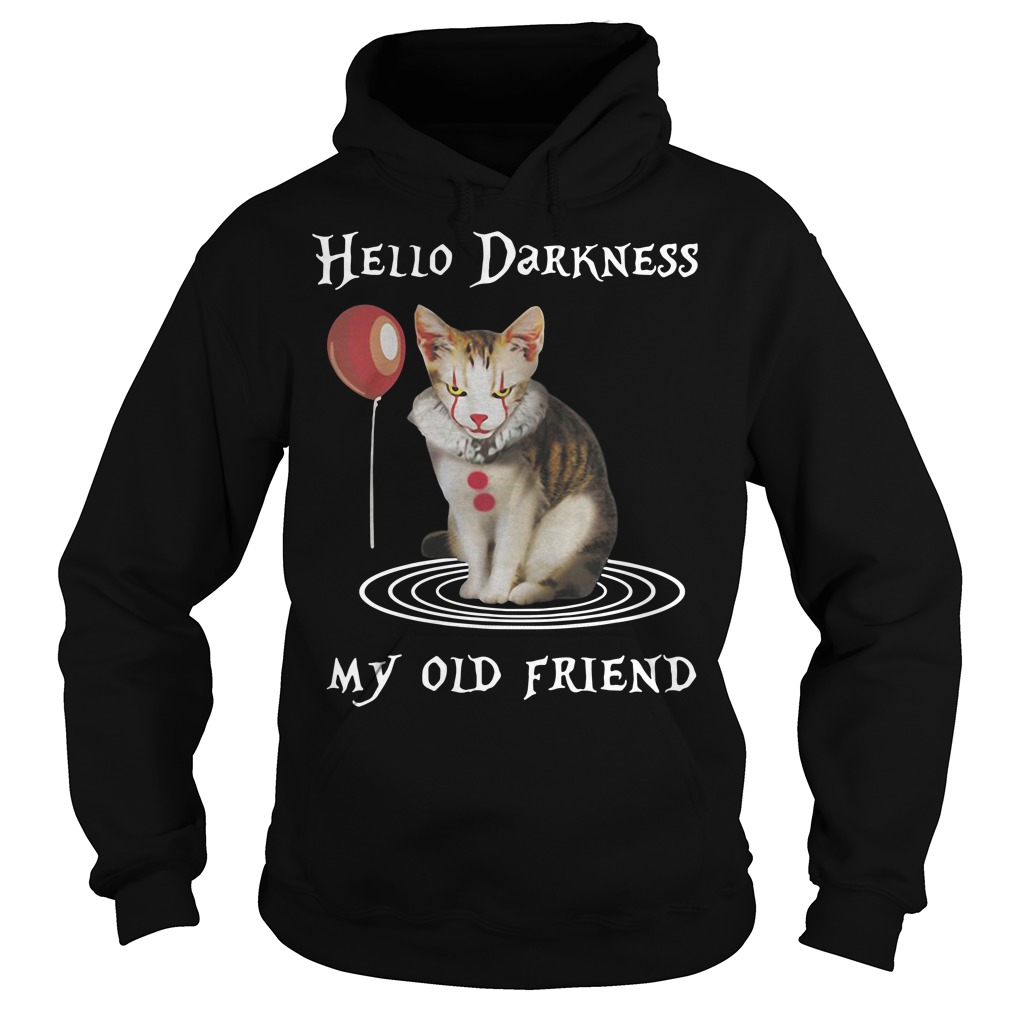 Halloween Clown Cat Hello Darkness My Old Friend Hoodie
