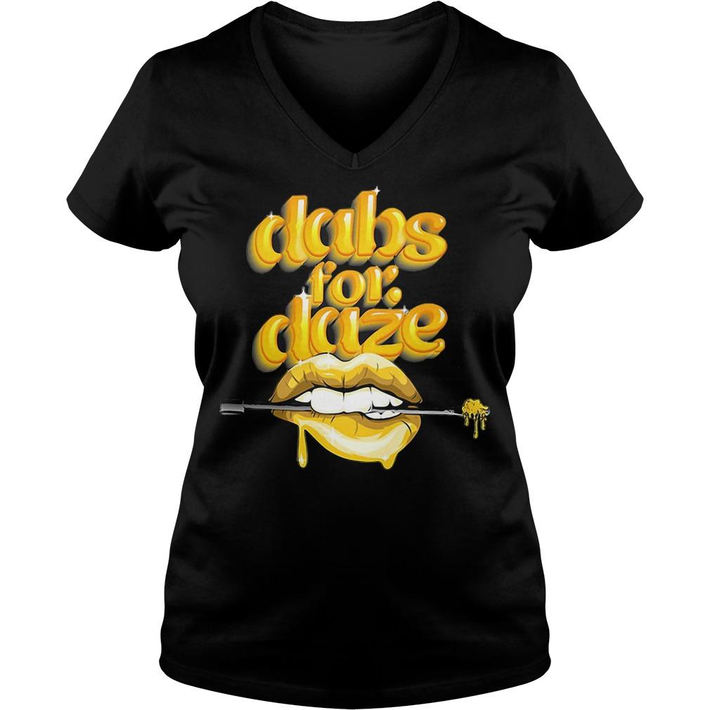 Lip Dabs For Daze V-neck T-shirt
