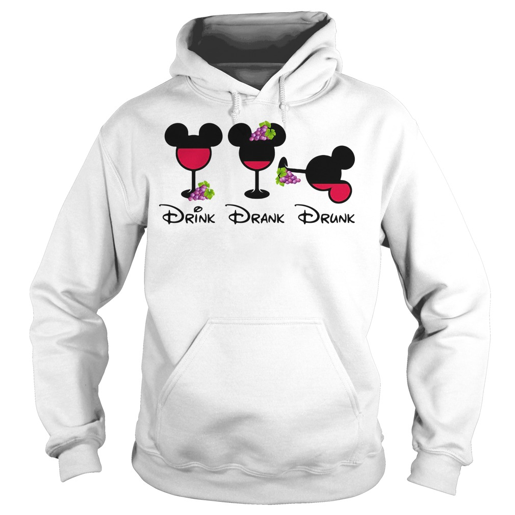 Mickey Glass Grapes Drink Drank Drunk Hoodie