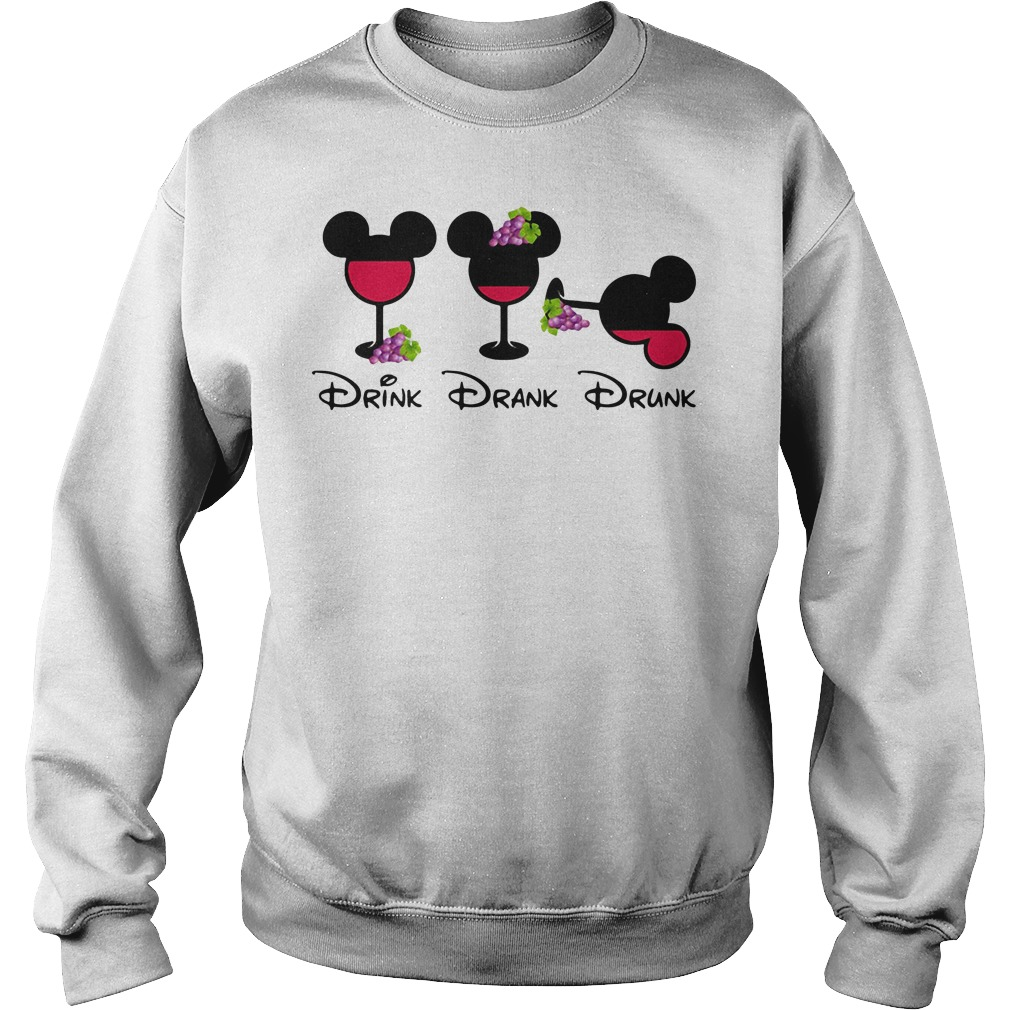 Mickey Glass Grapes Drink Drank Drunk Sweater
