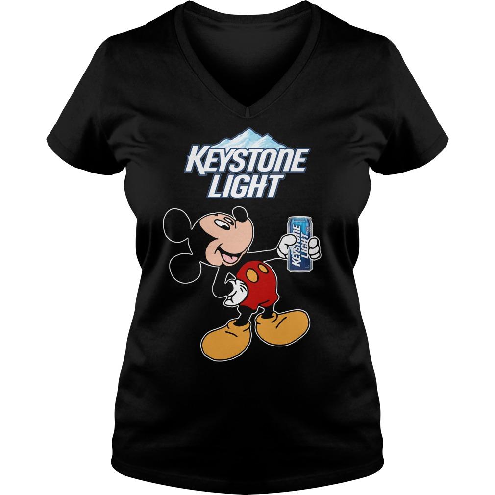 Mickey Mouse Keystone Light V-neck T-shirt