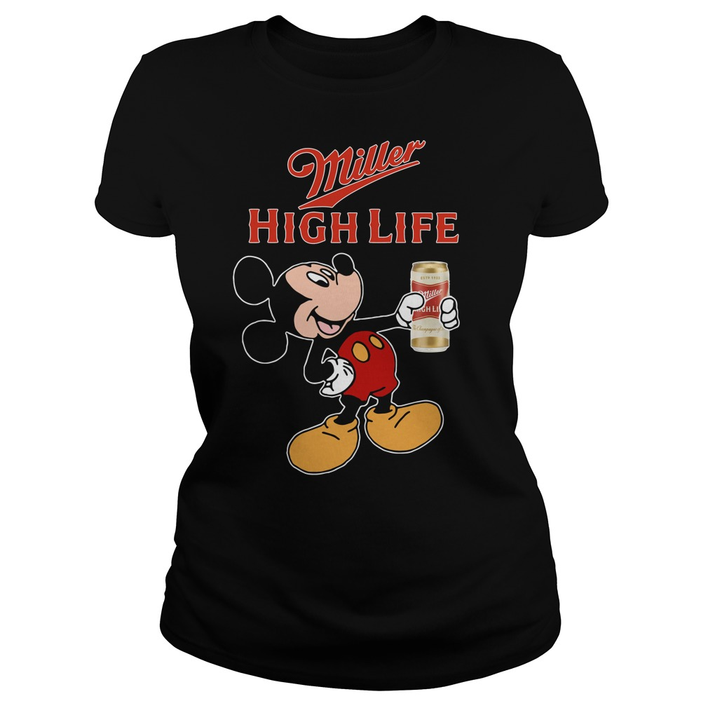 Mickey Mouse Miller High Life Ladies Tee