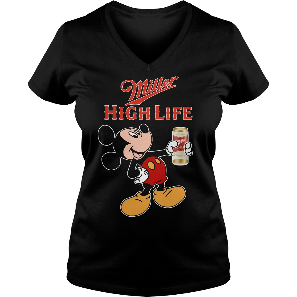 Mickey Mouse Miller High Life V-neck T-shirt