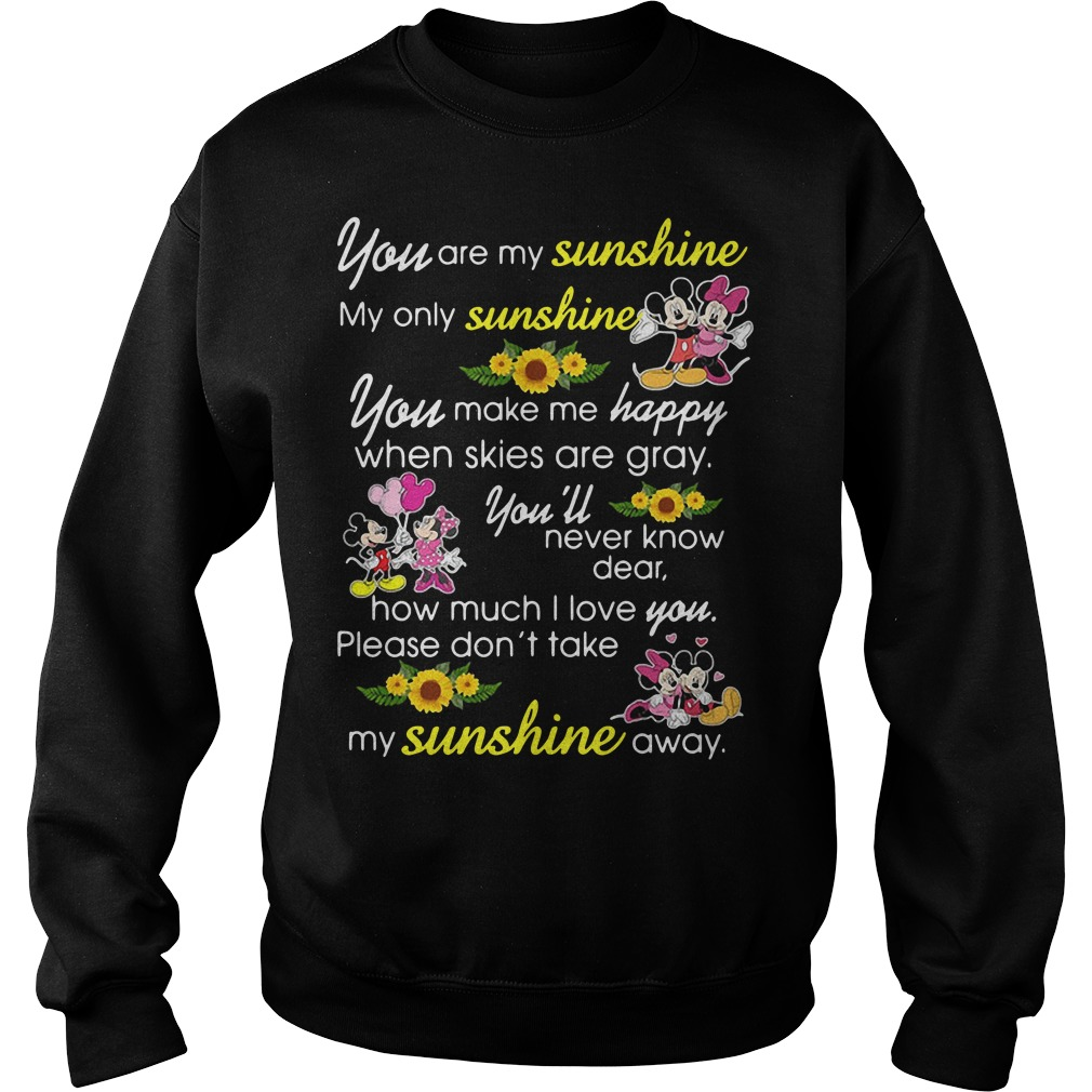 Mickey Mouse You Are My Sunshine My Only Sunshine Sweater