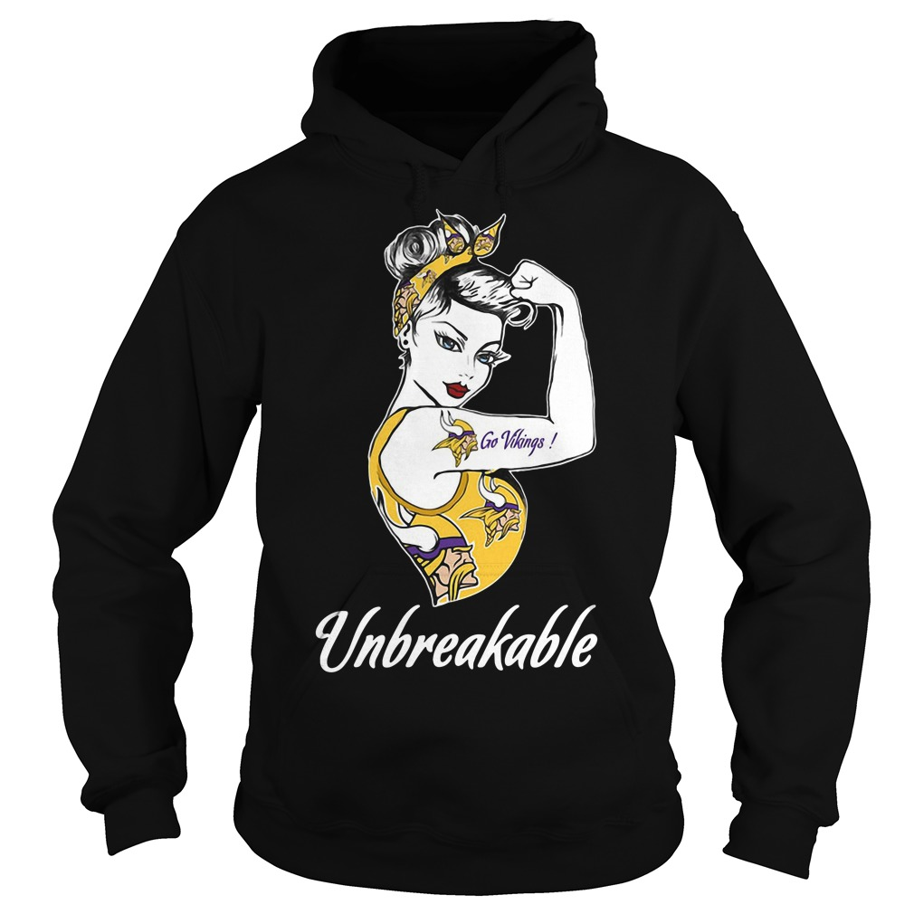 Minnesota Vikings Unbreakable Woman Hoodie