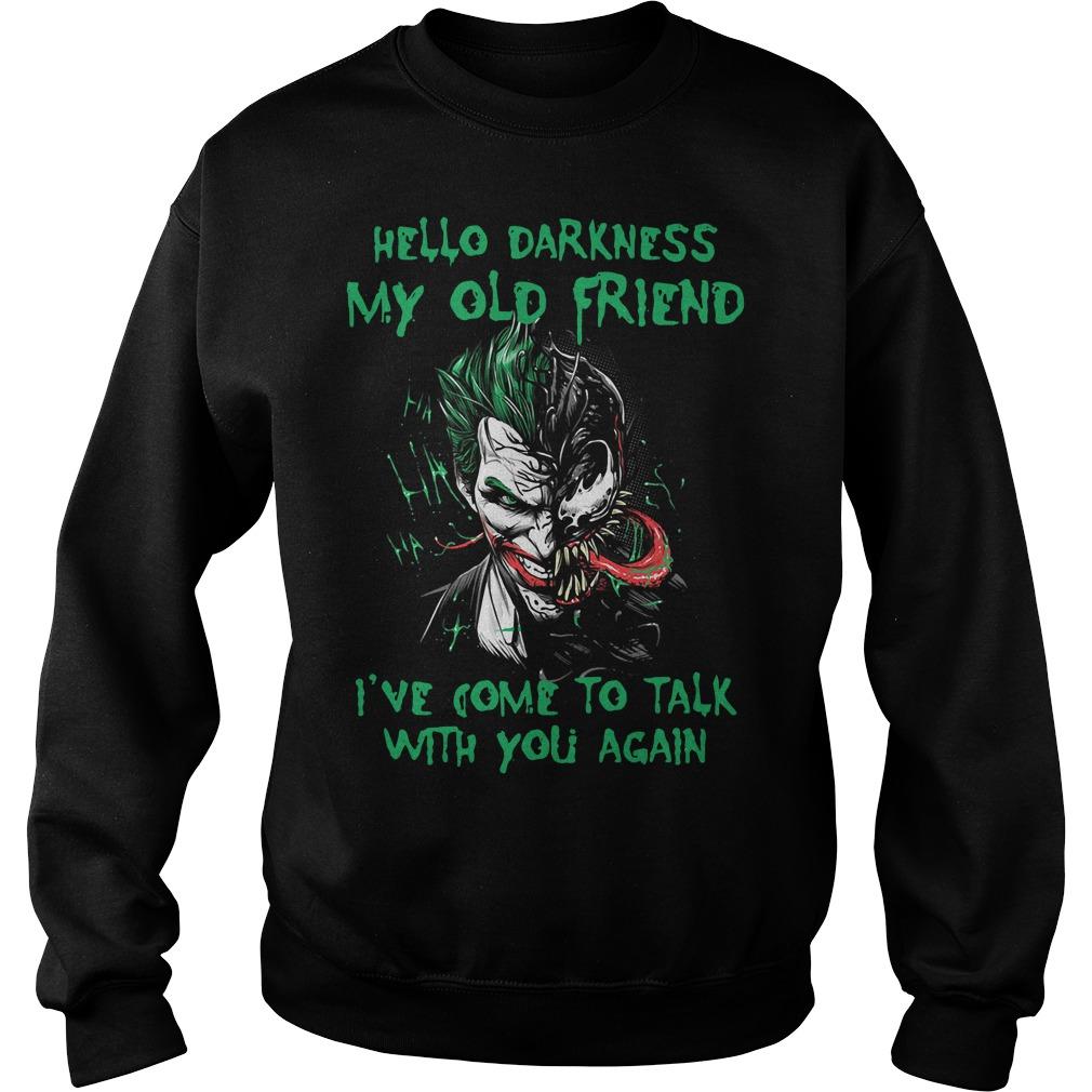 Venom Joker Hello Darkness My Old Friend I've Come To Talk Sweater